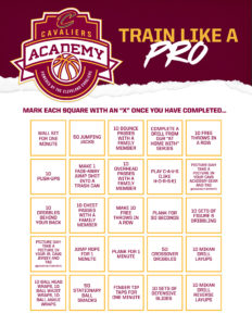 CGX-112603 Cavs Academy Drills and Exercises Bingo Print