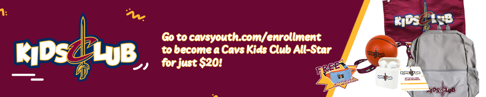 Paid Kids Club All-Star Launch Graphics-EarlyBird-Cavs Youth Home Page Banner